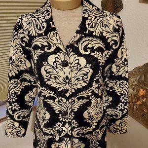 Striking black and cream coat
